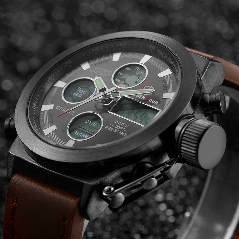למעלה מותג יוקרה גברים שחייה קוורץ אנלוגי חיצוני ספורט שעונים צבאיים זכר שעון LED תצוגת שעון Relogio Masculino מתנה