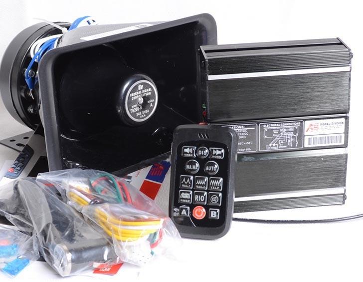 ФОТО 20 Tone Loudspeaker Horn with Plastic Speaker 200W Car Alarm Siren Police Horn Megaphone Car Styling Alarm Siren Buzzer