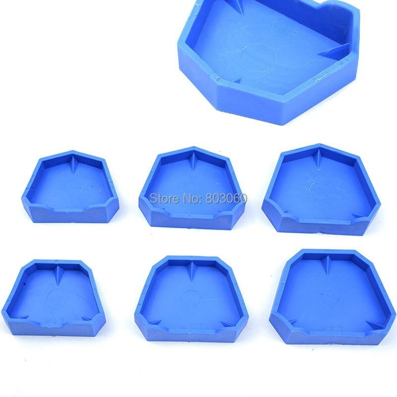 6pcs/1 Pack New Bath Box Denture Container Case Molds Blue Color ...