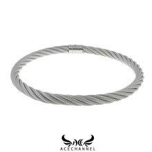 ACECHANNEL paslanmaz çelik tel halat kilitlenebilir torkue köle yaka gerdanlık erkekler kadın zincir kolye esaret sınırlamalar set gerdanlık