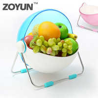 Plastic Wash Vegetable Double Layer Fruit Basket Creative Portable Camping Fishing Kitchen Cleaning Tools Accessories