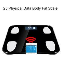 Горячая 25 тела данных Smart весом mi масштаба Ванная комната жира Вес весы человеческого b mi Smart напольные весы с Bluetooth Cloud Storage