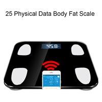 Hot 25 Body Data Smart Weighing mi Scale Bathroom Body Fat Weight Scales Human bmi Smart Bluetooth Body Scale Cloud Storage