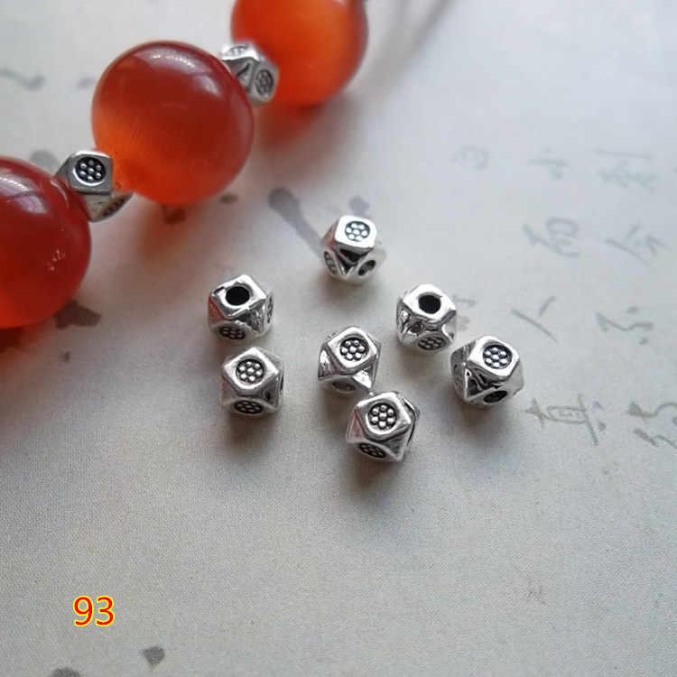 100 sztuk/partia Antique srebrny/złoty pragnął małe Spacer koraliki 3.5mm bransoletka naszyjnik metalowe Charms dla DIY biżuteria z koralikami Making