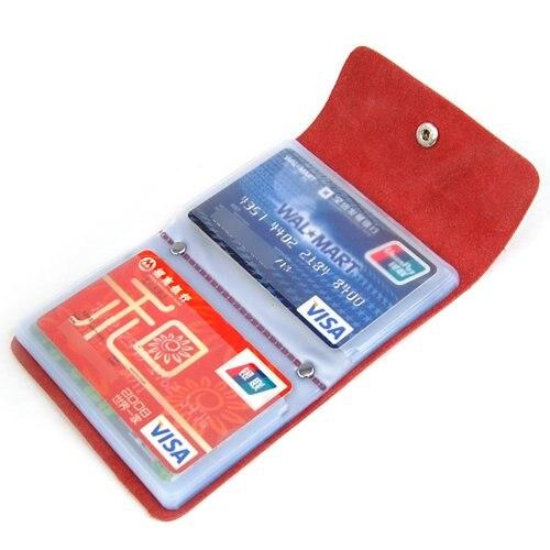 Karton Sosw-rot Premium Leder Brieftaschen Kreditkarte Halter Id Business Case Geldbörse Unisex Gut FüR Antipyretika Und Hals-Schnuller