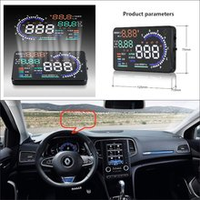 Car Computer Screen Display Projector Refkecting Windshield For Renault Megane 2015 2016 - Saft Driving
