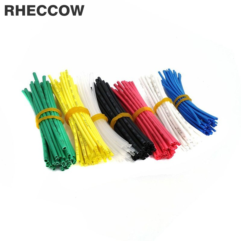Adaptable Rheccow 420pcs 1mm 10cm 100mm Colorful Assorted 600v 2:1 Heat Shrink Tube Assortment Wrap Electrical Insulation Cable Tubing Fine Quality Insulation Materials & Elements