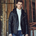 Leather Jacket Men Punk Brand Slim Suede Luxury Fashion Coats Jaquetas Casual Leather Jaqueta Couro Motorcycle Jackets Coats 159