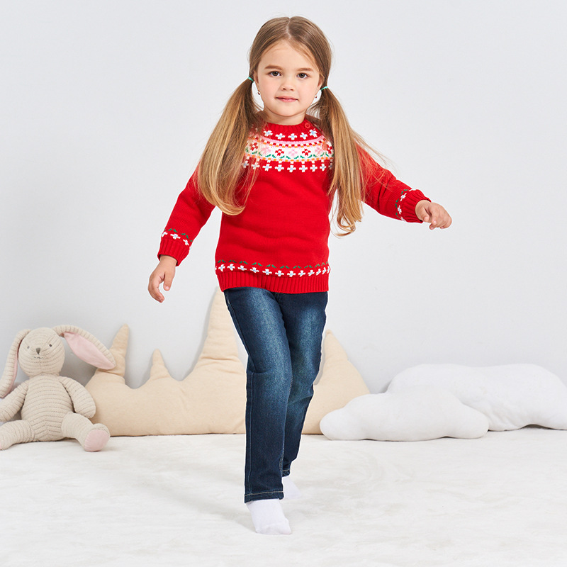 2018 Autumn Winter 1 3t Red Christmas Sweater Toddler Baby Boys