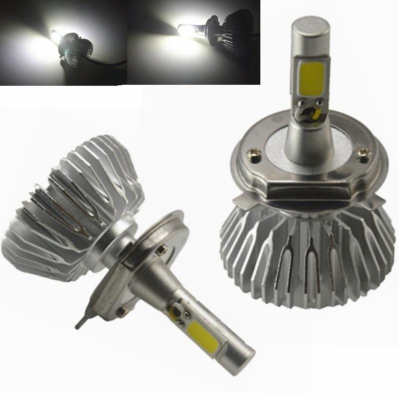 2x H4 Car LED Headlight H1 H3 H7 H11 9005 9006 Xenon White 6000k Car Led Head Light Globes Bulbs Lamp Fog Light Hi/Lo