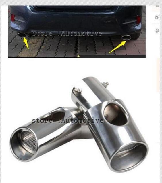 Supérieur étoile en acier inoxydable 2 pièces silencieux, tuyau D'échappement avec logo Pour Honda Civic 2016 2017 2018