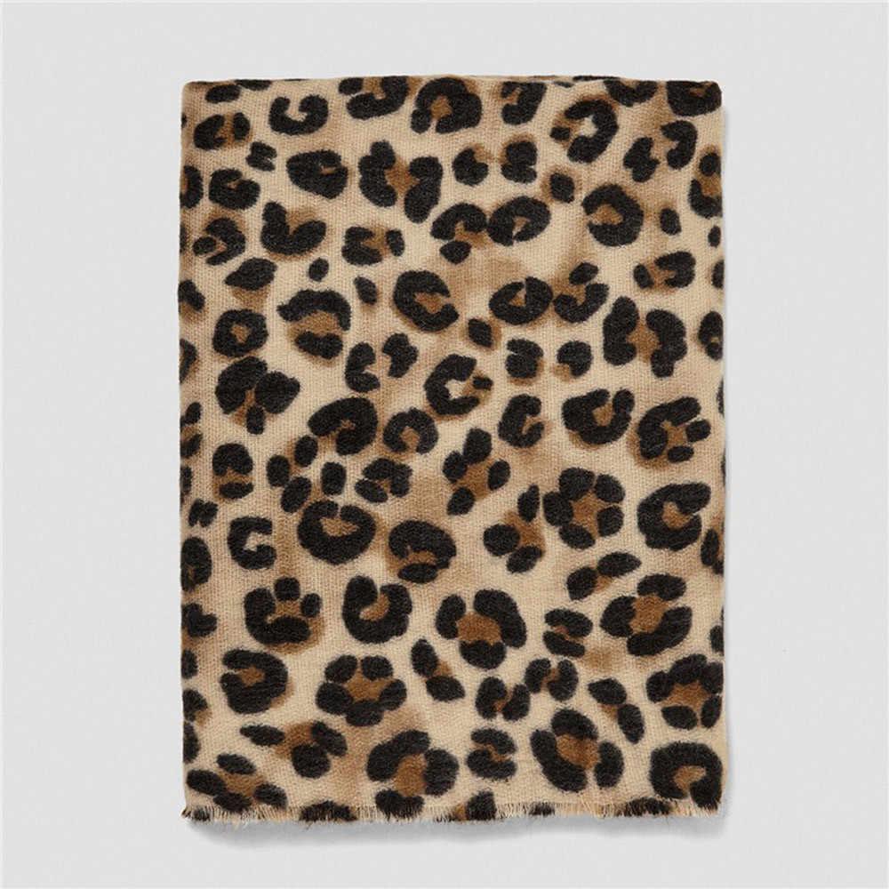# H40 leopardo inverno cachecol feminino macio longo pescoço quente senhora cachecóis xales moda feminina cashmere cachecol bufandas invierno mujer