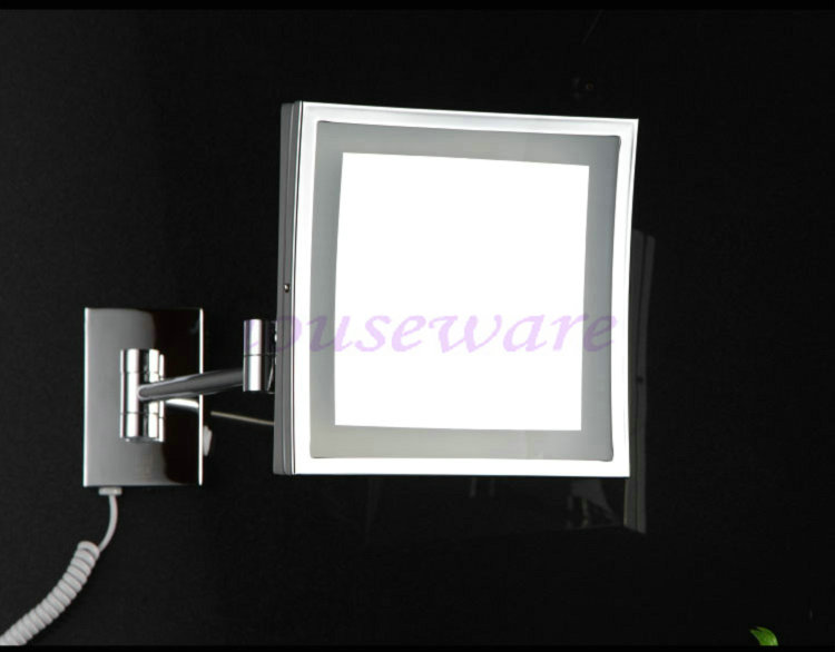 Flat screen HD 8  Square Cosmetic Shaving LED illuminated Makeup Mirror 3x  ZOOM magnify wx248. Illuminated Shaving Mirror Reviews   Online Shopping Illuminated