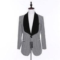 Новый Дизайн Caual Для мужчин Блейзер Для мужчин плед Ткань длинный рукав Для мужчин S Пиджаки для женщин пальто мужской одна кнопка платье Slim