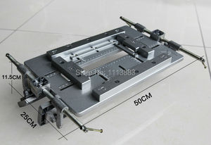 Gabarito de alumínio do modelo da dobradiça da porta ajustável, modelo de entalho para o roteador