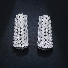 Уникальные длинные прямоугольные ювелирные изделия посеребренные