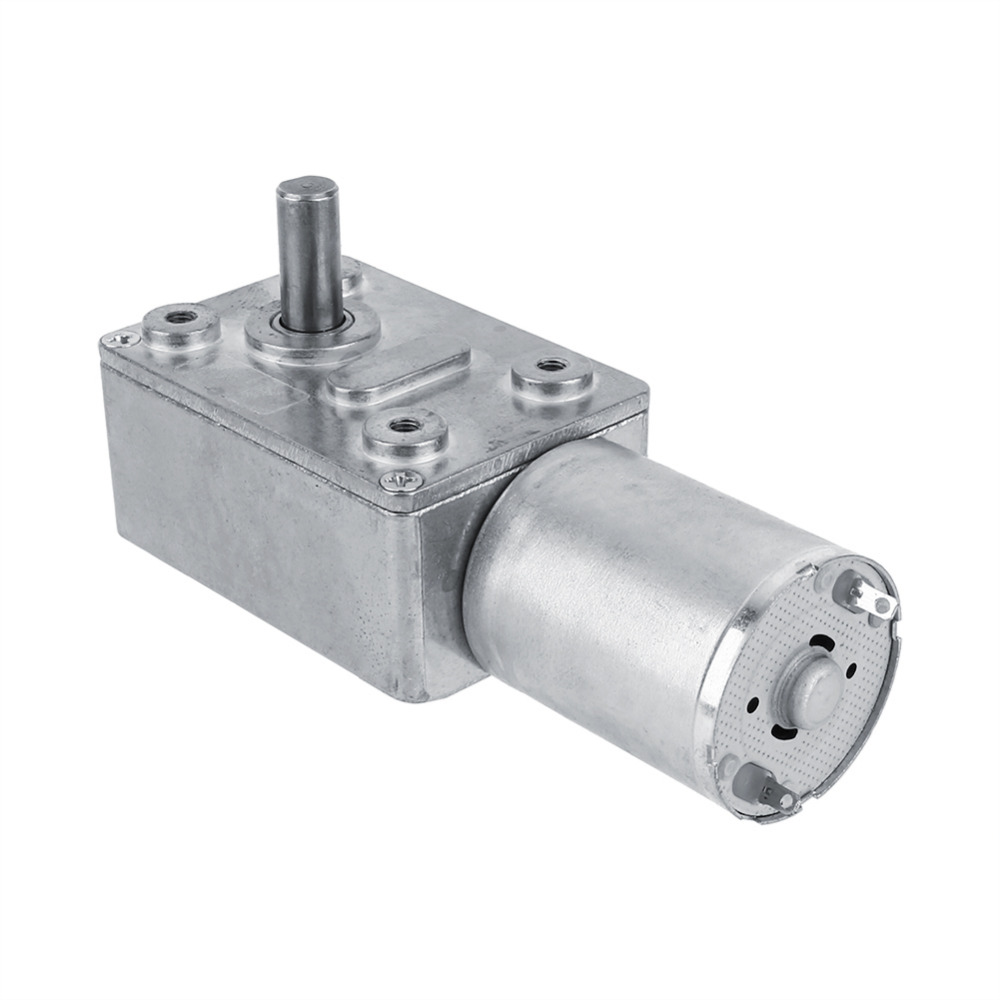 Reversible High Torque Worm Geared Motor Dc 12v Reduction