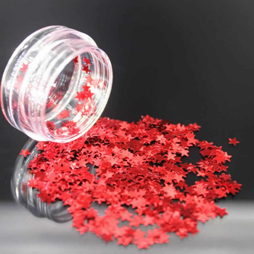 1 piezas Estrella Roja escalas Gel de esmalte de uñas, todo para manicura Semi permanente Vernis abrigo LED Gel ultravioleta barniz remojo arte de uñas #0
