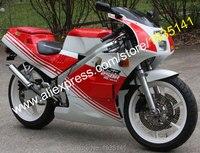 Лидер продаж, для Honda NSR250R MC18 мотоцикл Запчасти СМП 250 R 1989 NSR250 R MC18 89 красный, Белый ABS кузовов мотоцикл обтекатель