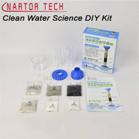 DIY Ciência Água Limpa Kit DIY Crianças Ciência Verde Kit Experimento de Purificação de Água