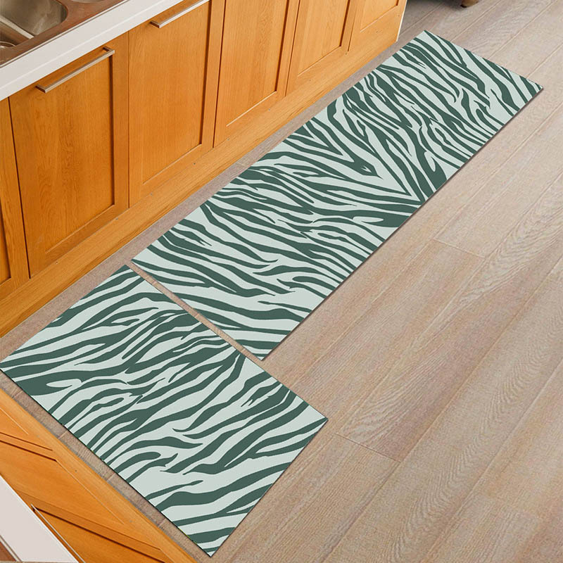 Water Absorbent Kitchen Mats with Anti Slip Bottom Suitable for Kitchen and Living Room Floor 4