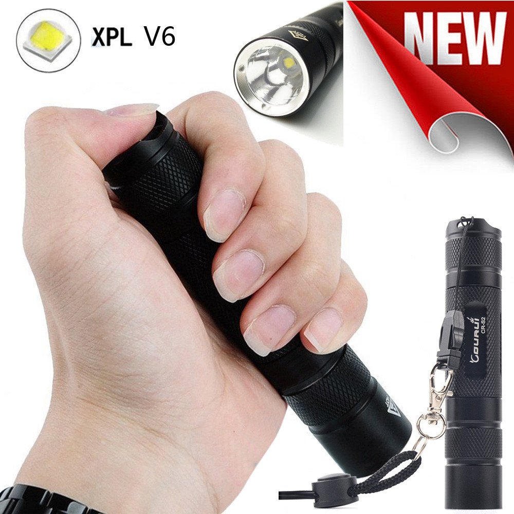 CR-S2 XPL V6 LED Aluminum Alloy Waterproof Pocket Flashlight Torch