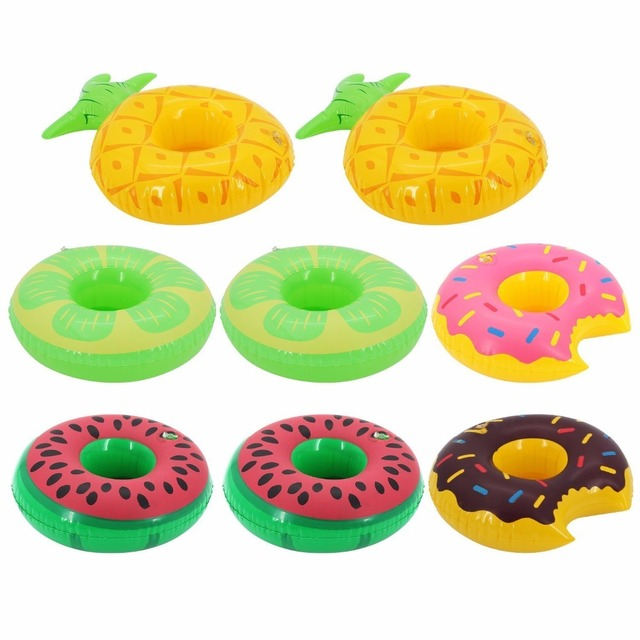 Inflatable Cup Holder Pool Toy Watermelon Pineapple Lemon Donut