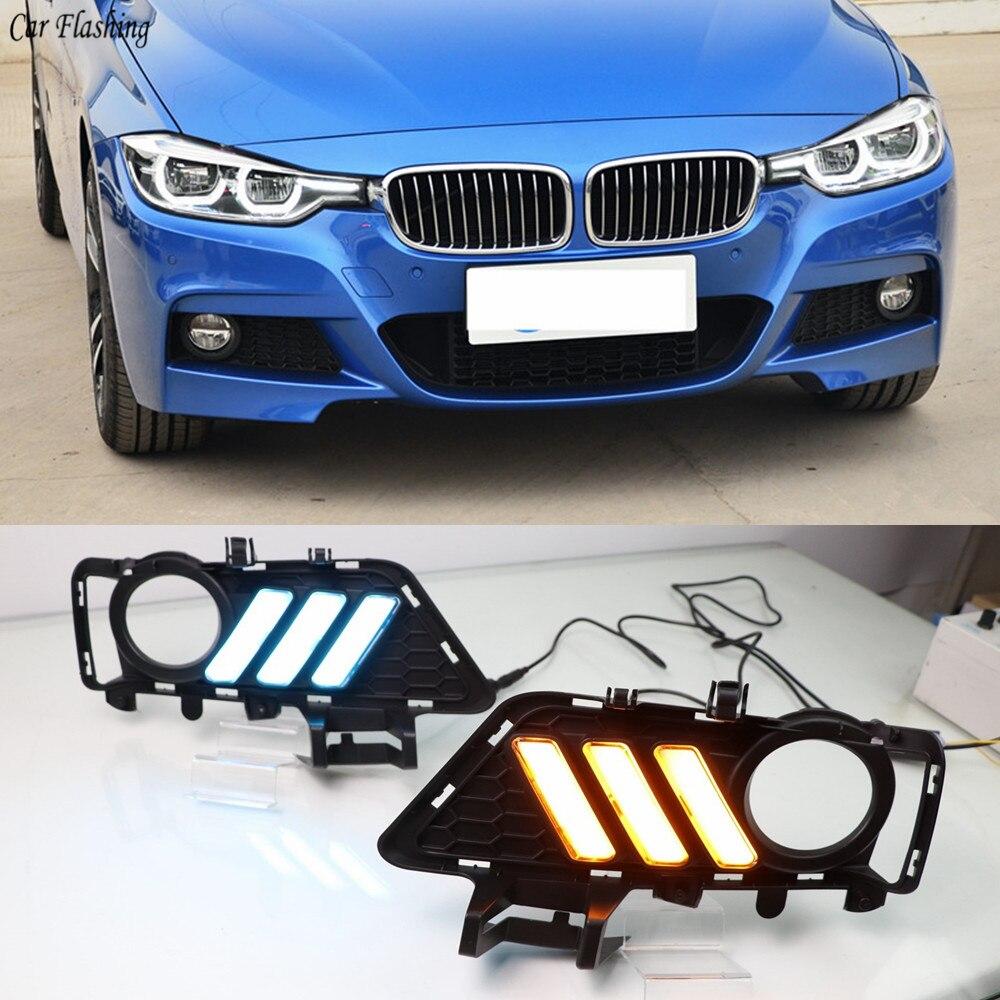 Car Flashing 1pair For BMW F30 3 Series 2018 2019 Daytime