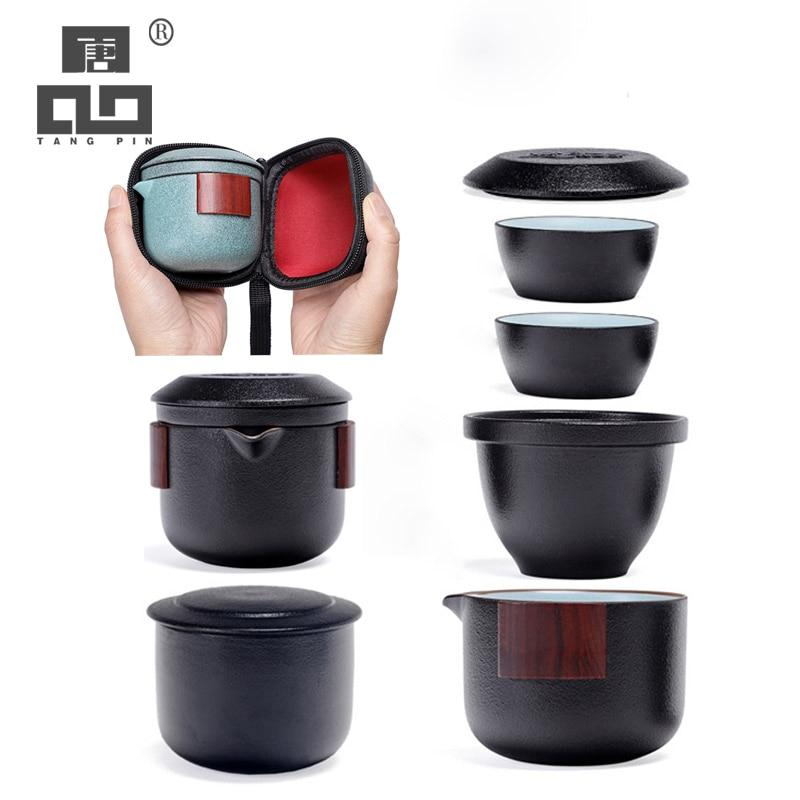 TANGPIN керамический чайник gaiwan, чайная чашка, фарфоровые чайные сервизы gaiwan, портативный чайный набор для Путешествия Посуда для напитков|Наборы чайной посуды|   | АлиЭкспресс