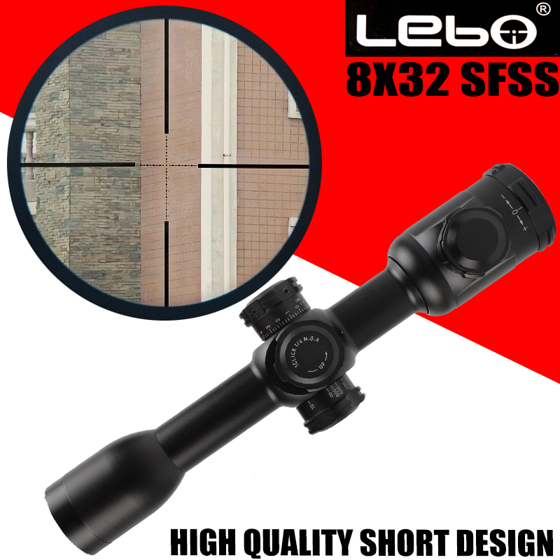 Original LEBO 8x32SFSS Tactical RiflesScope For AirRifle Sniper Hunting Optics Sight Riflescope For Shooting Military Use