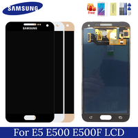 samsung e500 lcd galaxy e500f display 5.0 inch TFT screen touch digitizer assembly replacement for E5 E500M E500F E500H