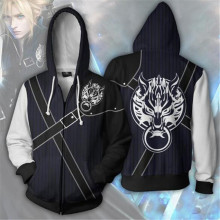 Role playing game Final Fantasy zipper Cosplay hoodie sweater anime costume 2019