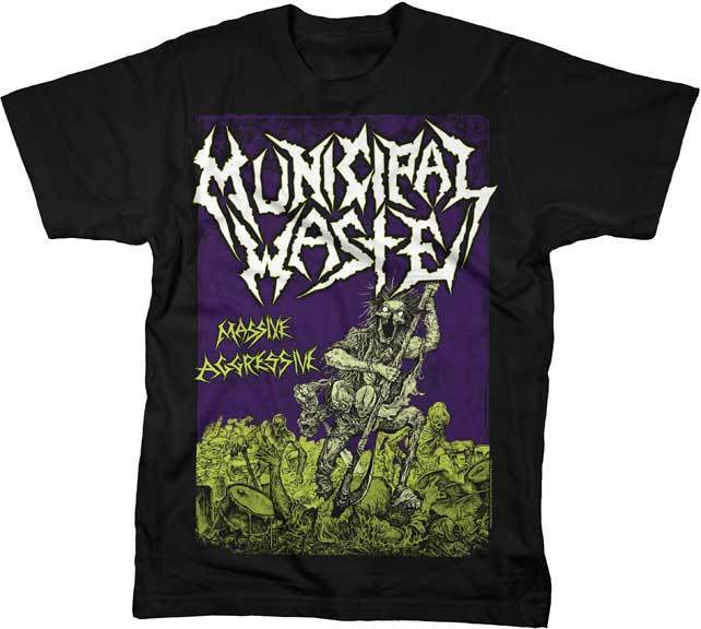 Gildan MUNICIPAL WASTE Massive Aggressive men t shirt