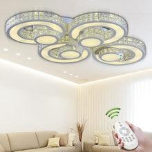 Современные Хрустальные потолочные светильники Luminaria Для Крытый Лампы Lamparas Де Techo Беспроводной Потолочный Светильник Для Спальни гостиной Abajur