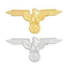 Insignia de Metal de la Segunda Guerra Mundial para hombres, broche de águila alemana, botón de broche para solapa, regalo de joyería