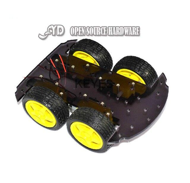Умный автомобиль шасси, полный тела (акриловая плита черный)