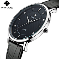 Men Watches 2015 New Brand Ultra Thin Full Genuine Leather Clock Male 50m Waterproof Casual Sport
