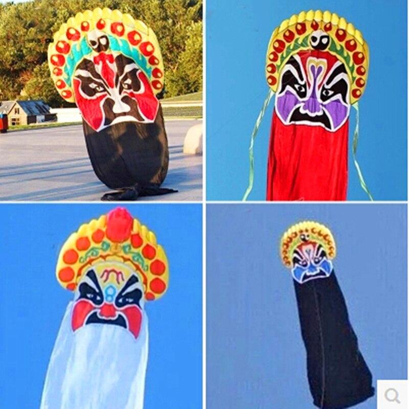 Livraison gratuite bobine de cerf-volant doux de haute qualité 8m opéra de pékin marche dans le ciel chaussette à vent en nylon ripstop gros cerf-volant volant jouets de plein air enfants