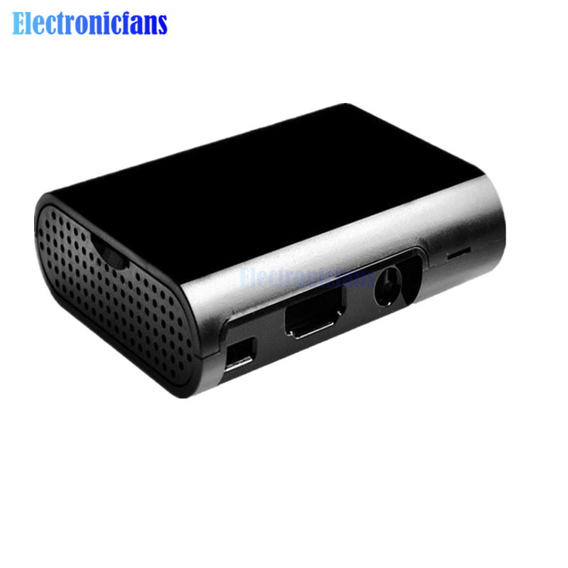 2 stücke Für Raspberry Pi 3 Modell B Plus & Raspberry Pi 3 2 Schwarz Fall Abdeckung Shell Gehäuse Box ABS box