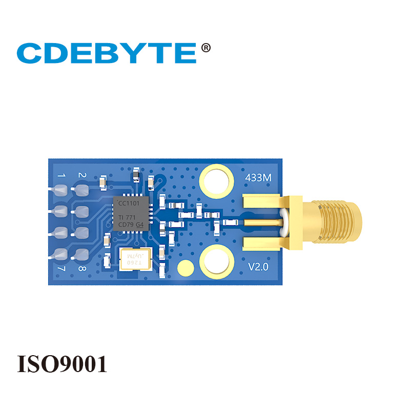E07-M1101D-SMA CC1101 433mhz 100mW SMA Antenna Uhf Wireless Transceiver Dip 433 MHz Transmitter And Receiver Rf Module