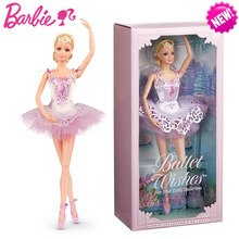 Barbie Original Doll Brand Collectible Doll Ballet Wish Doll Toy Princess Girl Birthday Present Girl Toys Gift Boneca Brinquedos original barbie brand hello kitty doll girl collector s edition best birthday toy girl birthday present girl toys gift boneca