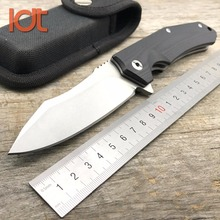 LDT Viperwolf Folding Knife 9Cr19Mov Blade G10 Handle Outdoor Tactical Military Knives Camping Pocket Survival Knife EDC Tool