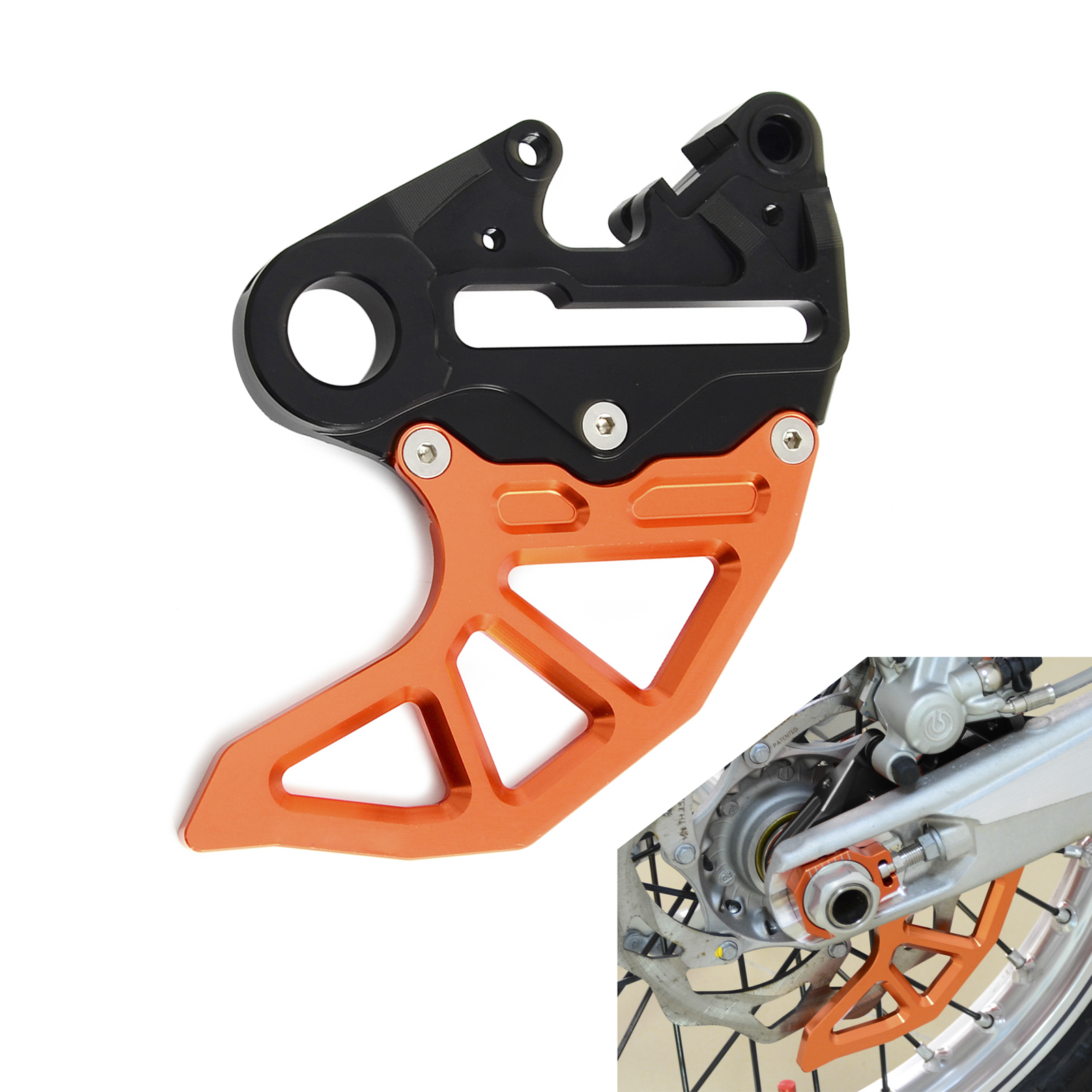 CNC Rear Brake Disc Guard Protector For KTM 125 250 350 450 530 SX SXF SMR XC XCF XCW EXC EXCF 6 Days 2004 2017 2018 2019-in Covers & Ornamental Mouldings from Automobiles & Motorcycles    2