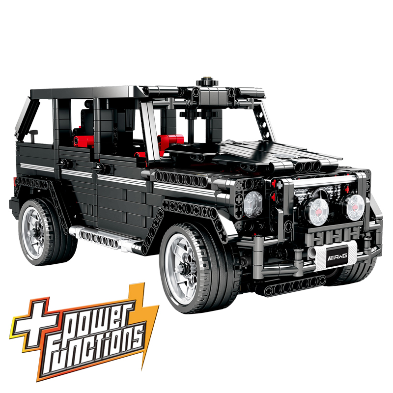 Technic Series Power Functions Banz G500 SUV Racing Speed Car Simulation Model Building Blocks Toys Compatible