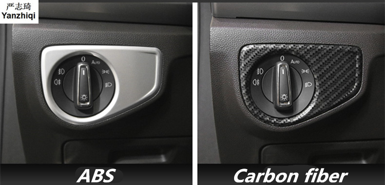 ABS Light switch Sequin <font><b>patch</b></font> Light switch decoration frame <font><b>Car</b></font> Sticker Accessories for 2017 2018 Volkswagen VW Atlas image