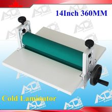 14Inch 360mm White All Metal Frame Cold Laminator Manual Laminating Machine Photo Vinyl Protect Rubber(China)