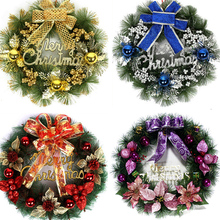 30cm Christmas Plastic Wreath Garland Pendant for Xmas Tree Window Decoration New Year Creative Garland Ornament Wall Decor