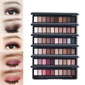 10 Color Fashion Natural Shimmer Matte Eyeshadow Palette Cosmetic Set with Brush