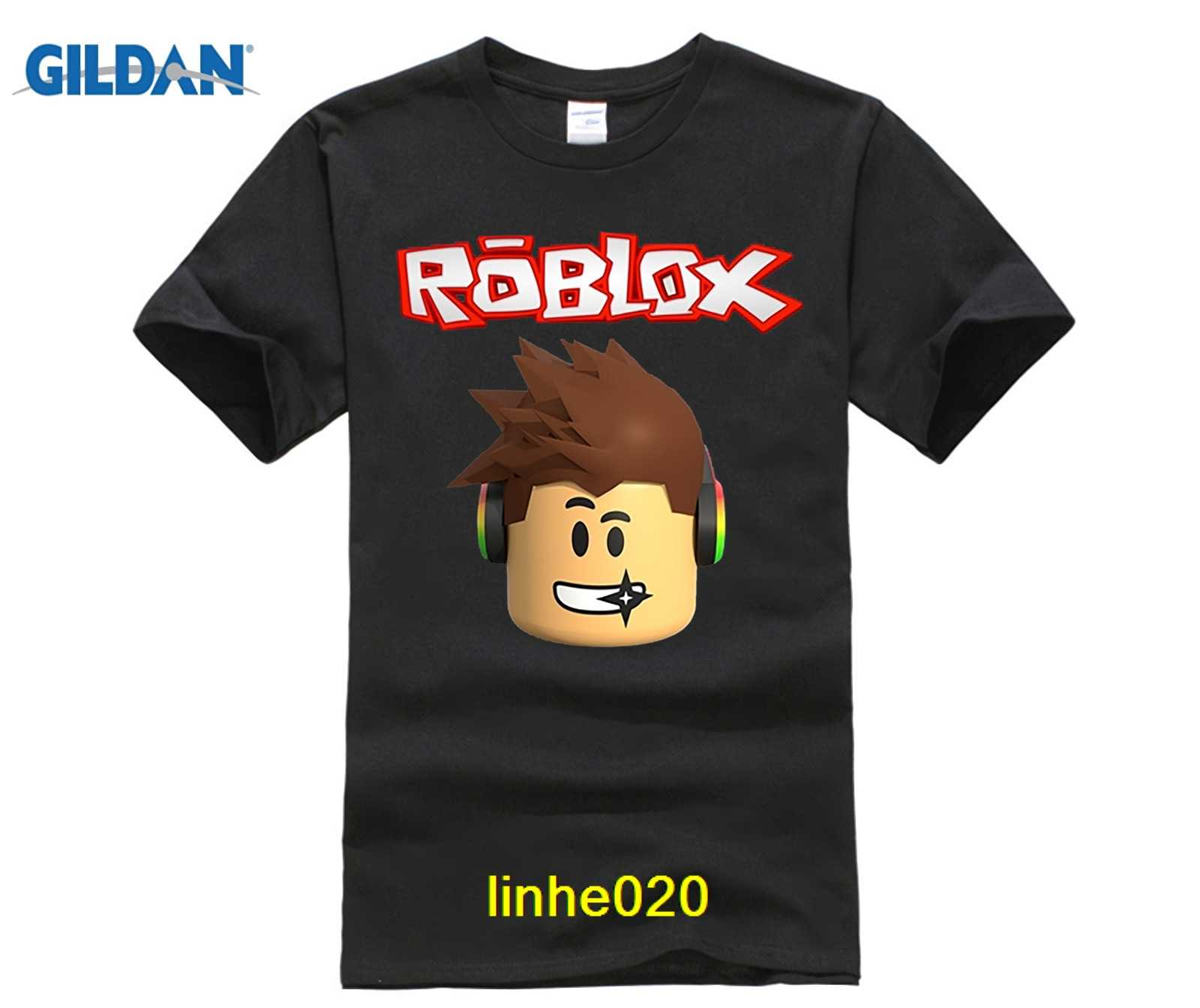 51ee077f GILDAN Roblox Character Head Adult T Shirt Cool Normal Loose T-Shirt Men  Long Sleeve