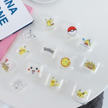 Pokemons PIKA Cartoon Wireless Bluetooth Earphone Cute Case For Apple AirPods Silicone Charging lucency